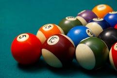 De ballen van de pool. ondiepe DOF. royalty-vrije stock afbeelding