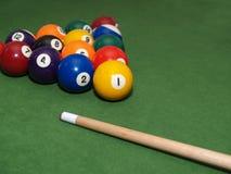 De ballen van de pool op lijst stock fotografie