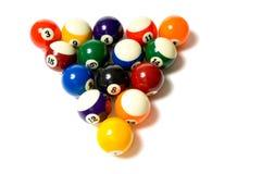 De Ballen van de pool op wit Royalty-vrije Stock Foto's