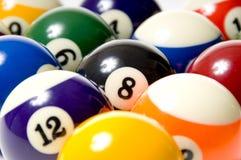 De Ballen van de pool of van het Biljart Stock Foto's