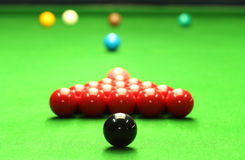 De ballen van de snooker Stock Foto