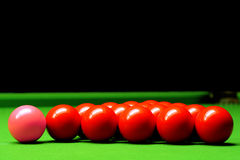 De ballen van de snooker Royalty-vrije Stock Afbeeldingen