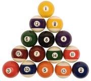 De Ballen van de snooker Stock Fotografie