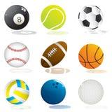 De ballen van de sport Stock Foto
