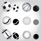 De ballen van de sport Royalty-vrije Stock Afbeeldingen