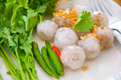 De ballen van de tapioca of de gestoomde tapioca van de Tapioca bol Royalty-vrije Stock Foto