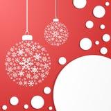 De Ballen van de vakantiedecoratie Royalty-vrije Stock Afbeelding