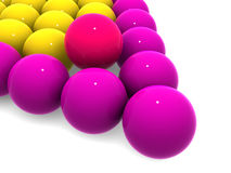 De ballen van het biljart. Stock Afbeelding