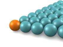De ballen van het biljart. Stock Foto