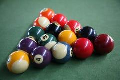 De ballen van het biljart Royalty-vrije Stock Foto