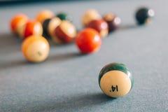 De ballen van het biljart Stock Foto