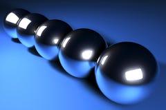 De ballen van het chroom Stock Afbeeldingen