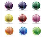 De ballen van het glas Stock Foto's