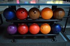 De ballen van het kegelen Stock Foto