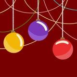 De ballen van het Kerstmisglas Stock Foto's