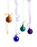 De ballen van het kleuren nieuwe jaar Stock Afbeelding
