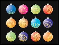 De ballen van het nieuwjaar Stock Afbeelding