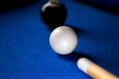 De ballen van het poolbiljart op blauwe het spelreeks van de lijstsport Snooker, Poolspel royalty-vrije stock foto