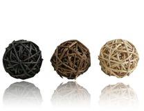 De Ballen van het stro met Bezinning Stock Foto's
