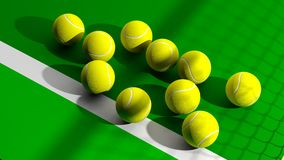 De ballen van het tennis Royalty-vrije Stock Fotografie