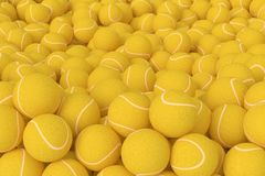 De ballen van het tennis Royalty-vrije Stock Foto's