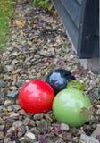 De ballen van het tuindecor Stock Afbeeldingen