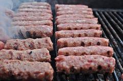 De Ballen van het vlees (Roemeen: Mici) Stock Foto's