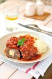 De Ballen van het vlees in Tomatensaus Royalty-vrije Stock Afbeeldingen