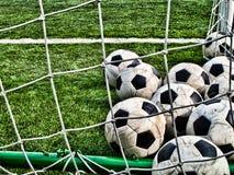 De Ballen van het voetbal Royalty-vrije Stock Afbeeldingen