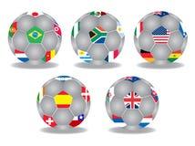 De ballen van het voetbal Stock Fotografie