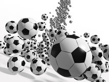 De ballen van het voetbal Stock Afbeeldingen