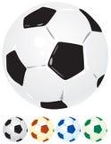De ballen van het voetbal Stock Afbeelding