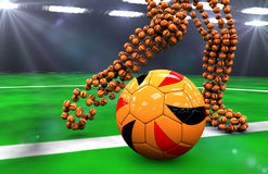 De ballen van het voetbal bij nacht Royalty-vrije Stock Afbeeldingen