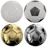 De Ballen van het Voetbal van Nice Royalty-vrije Stock Afbeeldingen