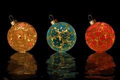 De ballen van Kerstmis. Royalty-vrije Stock Foto