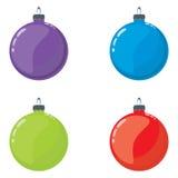 De ballen van Kerstmis vector illustratie