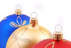 De ballen van Kerstmis, achtergrond Royalty-vrije Stock Foto's