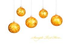 De ballen van Kerstmis die op wit worden geïsoleerd Stock Afbeeldingen