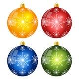 De ballen van Kerstmis die op witte achtergrond worden geïsoleerd¯ Vector illustratie Royalty-vrije Stock Foto