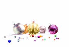 De ballen van Kerstmis geven terug Stock Afbeeldingen