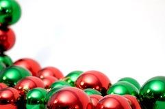 De ballen van Kerstmis met copyspace stock foto