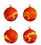 De ballen van Kerstmis met ornament stock illustratie