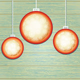 De ballen van Kerstmis met plaats voor copyspace. + EPS8 Royalty-vrije Stock Foto