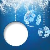 De ballen van Kerstmis met sneeuwvlokken. + EPS8 Stock Afbeeldingen