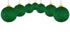 De ballen van Kerstmis op een witte achtergrond Royalty-vrije Stock Afbeelding