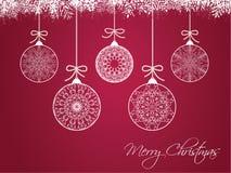 De Ballen van Kerstmis op Kleurrijke Achtergrond Royalty-vrije Stock Afbeeldingen