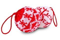 De Ballen van Kerstmis op Witte Achtergrond Stock Fotografie