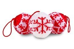 De Ballen van Kerstmis op Witte Achtergrond Royalty-vrije Stock Foto