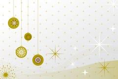 De ballen van Kerstmis - retro stijl stock illustratie
