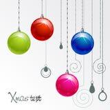 De ballen van Kerstmis van de kleur Stock Afbeeldingen